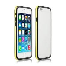 Ochranný plasto-gumový rámeček / bumper pro Apple iPhone 6 - žluto-černý