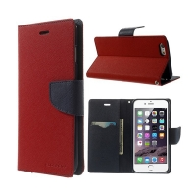 Pouzdro Mercury Goospery pro Apple iPhone 6 Plus / 6S Plus - stojánek a prostor pro platební karty - červeno-modré