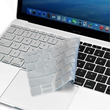 Kryt klávesnice ENKAY pro Apple MacBook 12 / Pro 13 (2016) bez Touch baru - silikonový - stříbrný - US verze