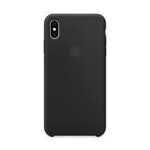 Originální kryt pro Apple iPhone Xs - silikonový - černý