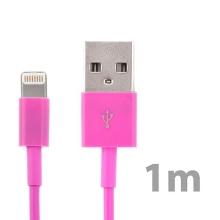 Synchronizační a nabíjecí kabel Lightning pro Apple iPhone / iPad / iPod - růžový - 1m