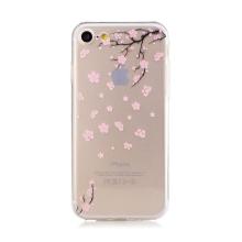 Kryt pro Apple iPhone 7 / 8 - gumový - průhledný - sakura