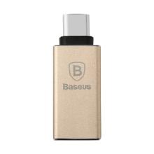 Redukce / adaptér Baseus Sharp Series USB-C / USB 3.0 - zlatá