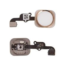 Obvod tlačítka Home Button + kovový rámeček + tlačítko Home Button pro Apple iPhone 6S / 6S Plus - bílé / zlaté - kvalita A+