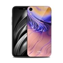 Kryt NXE pro Apple iPhone Xr - gumový / skleněný - barevný přechod - oranžový
