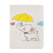 """Pouzdro pro Apple iPad Pro 12,9"""" (2018) - stojánek - umělá kůže - slůně s deštníkem"""