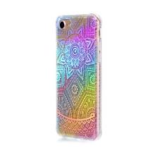 Kryt pro Apple iPhone 7 / 8 - gumový / plastový - duhový / stříbrné mandaly