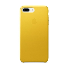Originální kryt pro Apple iPhone 7 Plus / 8 Plus - kožený - slunečnicově žlutý