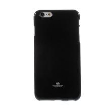 Kryt Mercury Goospery pro Apple iPhone 6 Plus / 6S Plus gumový - černý s třpytivými prvky