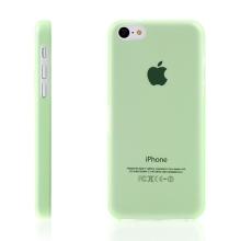 Ultra tenký ochranný kryt pro Apple iPhone 5C (tl. 0,3 mm) - plastový - matný - zelený