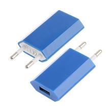 Mini USB nabíječka / adaptér pro Apple iPhone / iPod (1A) - modrá