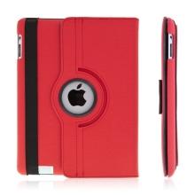 360° otočný ochranný kryt a držák pro Apple iPad 2. / 3. / 4.gen. - červený