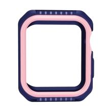 Kryt / pouzdro pro Apple Watch 44mm Series 4 - celotělové - plast / silikon - modrý / růžový