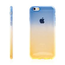 Kryt pro Apple iPhone 6 Plus / 6S Plus gumový tenký - žlutý / modrý