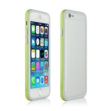 Ochranný plasto-gumový rámeček / bumper pro Apple iPhone 6 - zeleno-šedý