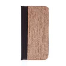 Pouzdro pro Apple iPhone 7 Plus / 8 Plus - stojánek + prostor pro platební karty - motiv dřeva / dub