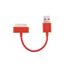 Mini synchronizační a nabíjecí datový kabel pro iPhone / iPod / iPad - červený