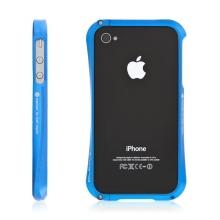 Kvalitní hliníkový bumper Cleave pro Apple iPhone 4S - modrý