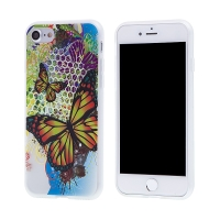 Kryt pro Apple iPhone 7 / 8 - gumový - barevní motýli