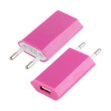 Mini USB nabíječka / adaptér pro Apple iPhone / iPod (1A) - růžová