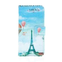 Pouzdro pro Apple iPhone 5 / 5S / SE - stojánek + prostor pro platební karty - retro Eiffelovka