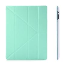 Ochranné pouzdro s variabilním stojánkem a funkcí chytrého uspání pro Apple iPad 2. / 3. / 4.gen. - tyrkysovo-průhledné