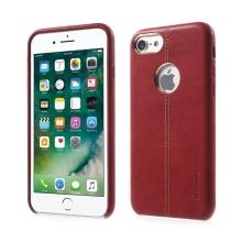 Kryt VORSON pro Apple iPhone 7 / 8 umělá kůže / výřez pro logo - červený