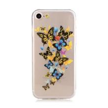 Kryt pro Apple iPhone 7 / 8 - gumový - průhledný - motýli