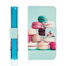 Pouzdro pro Apple iPhone 4 / 4S stojánek, prostor pro doklady - macarons