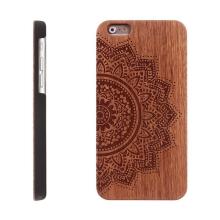 Kryt pro Apple iPhone 6 / 6S plastový dřevěný - Mandala