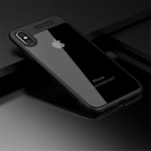 Kryt IPAKY pro Apple iPhone X - plastový / gumový - průhledný / černý