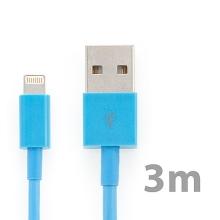 Synchronizační a nabíjecí kabel Lightning pro Apple iPhone / iPad / iPod - silný - modrý - 3m