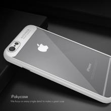 Kryt IPAKY pro Apple iPhone 6 / 6S - plastový / gumový - průhledný / bílý