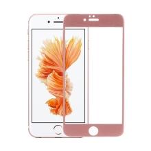 Tvrzené sklo DEVIA (Tempered Glass) pro Apple iPhone 6 Plus / 6S Plus - Rose Gold rámeček + zadní fólie - 0,26mm