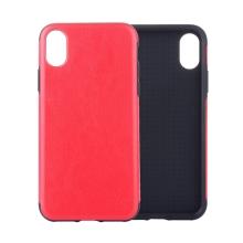 Kryt pro Apple iPhone Xr - pevný - umělá kůže - červený