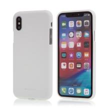 Kryt MERCURY Soft feeling pro Apple iPhone X / Xs - gumový - bílý