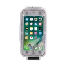 Pouzdro vodotěsné pro Apple iPhone 6 Plus / 6S Plus s odolností do 40m hloubky (IPX8) - průhledné / bílé