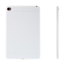 Gumový kryt / pouzdro pro Apple iPad mini 4 - tečkovaný - bílý