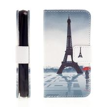 Pouzdro pro Apple iPhone 4 / 4S stojánek, prostor pro doklady - Eiffelovka