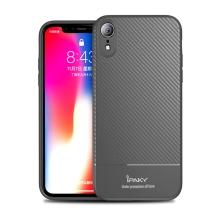 Kryt IPAKY pro Apple iPhone Xr - karbonová textura - gumový - šedý