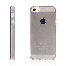 Kryt pro Apple iPhone 5 / 5S / SE - gumový - šedý