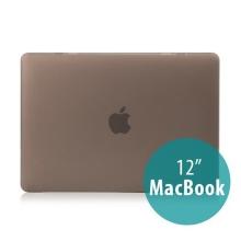 Tenký plastový obal / kryt pro Apple MacBook 12 Retina (rok 2015) - matný - šedý