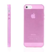 Kryt pro Apple iPhone 5 / 5S / SE (tl. 0,5mm) - antiprachová záslepka - průhledný - růžový