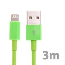 Synchronizační a nabíjecí kabel Lightning pro Apple iPhone / iPad / iPod - silný - zelený - 3m