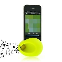 Hudební zesilovací vajíčko a stojan pro Apple iPhone 4 / 4S - zelený