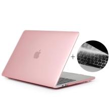 """Obal / kryt ENKAY pro Apple MacBook Pro Retina 15"""" (2016 - 2018) - model A1707, A1990 + kryt klávesnice - růžový"""