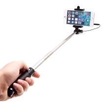 Selfie tyč teleskopická / monopod - kabelová spoušť - černá