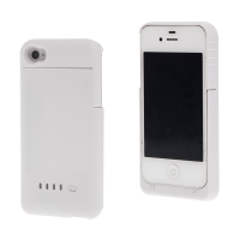 Baterie externí pro Apple iPhone 4 / 4S s plastovým krytem - 1900mAh - bílá