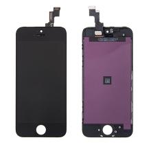 LCD panel + dotykové sklo (touch screen digitizér) pro Apple iPhone 5S / SE - černý - kvalita A