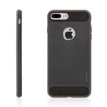 Kryt IPAKY pro Apple iPhone 7 Plus / 8 Plus gumový / výřez pro logo - šedý